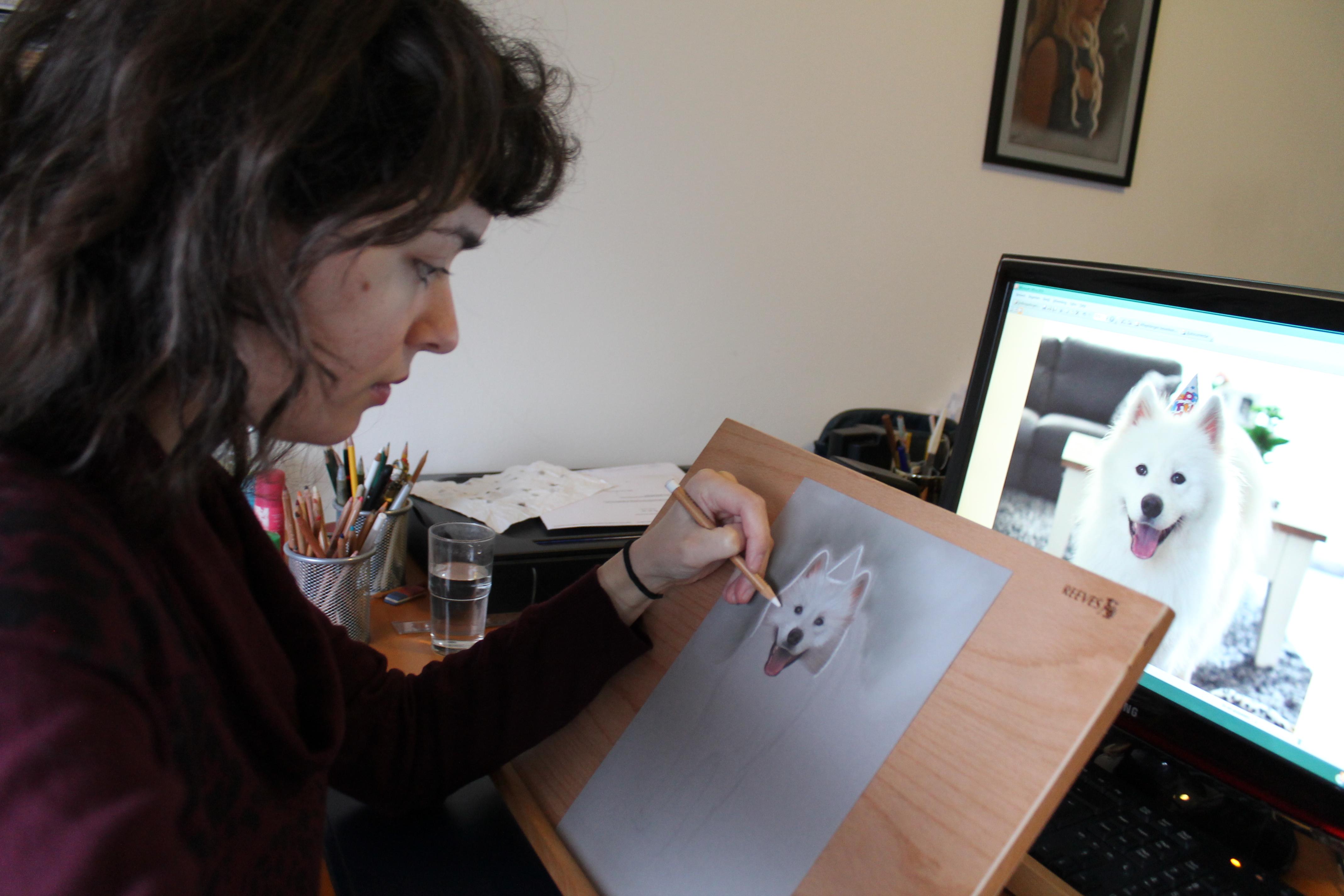 Contact, Denise Nijs van Denises Art aan het werk
