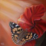 Pasteltekening 'Summer Butterfly', 19x19cm
